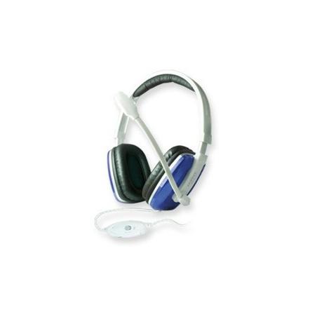 Casque stéréo Multimédia CLiPtec COMM-BEAT BMH697 / Blanc & Bleu