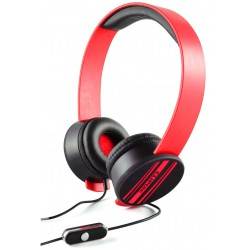 Casque stéréo Multimédia Cliptec URBAN REMIXX BMH832 / Rouge