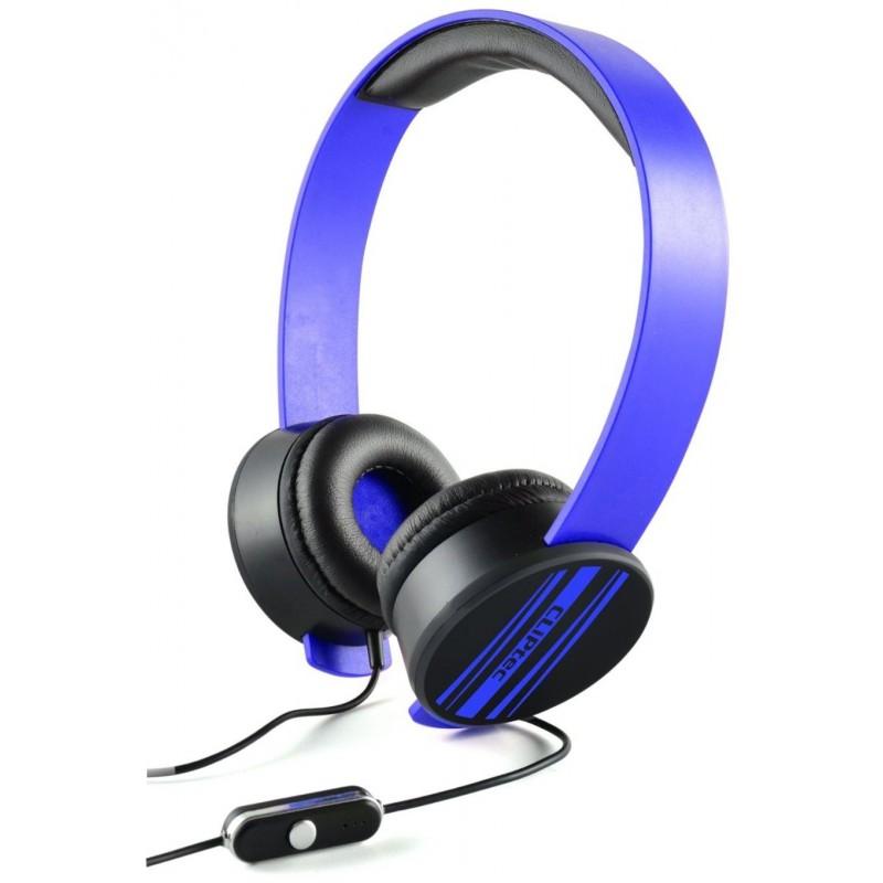 Casque stéréo Multimédia Cliptec URBAN REMIXX BMH832 / Bleu