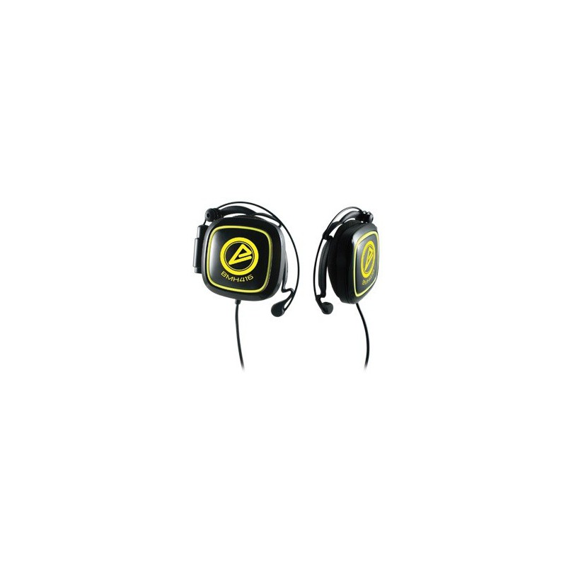 Casque stéréo Multimédia CLiPtec Mobi-Sound BMH416 / Noir & Jaune