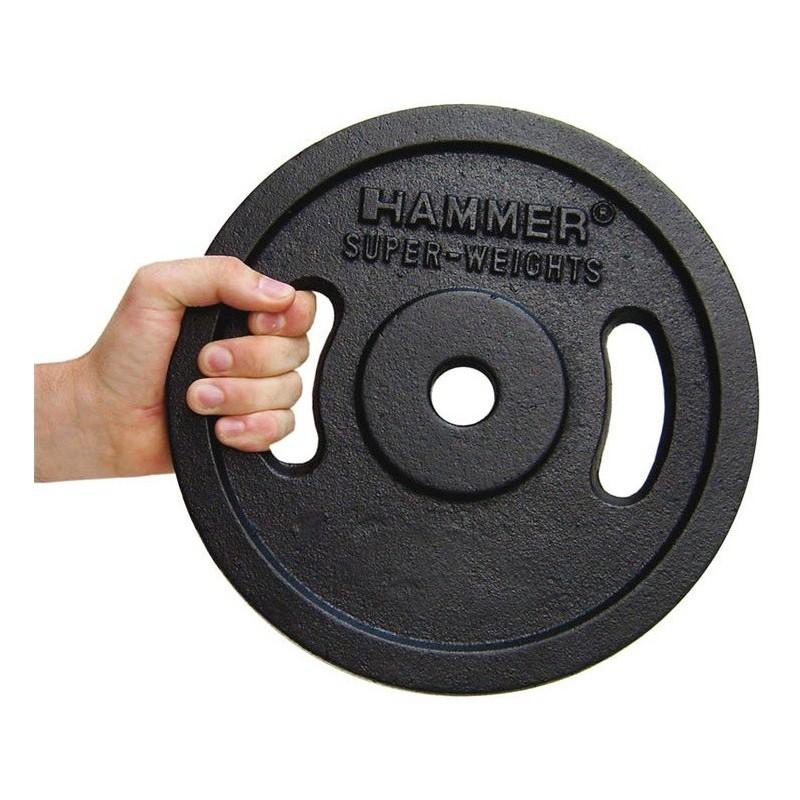Paire de disques de musculation Noir 2x 2.5 kg Finnlo 4652
