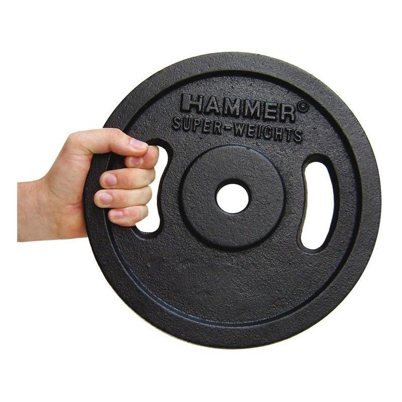 Paire de disques de musculation Noir 2x 5 kg Finnlo 4653