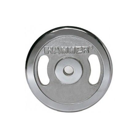 Paire de disques de musculation 2x 1.25 kg / Chromé