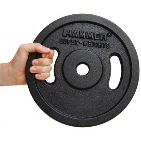 Paire de disques de musculation Noir 2x 20kg Hammer 4655
