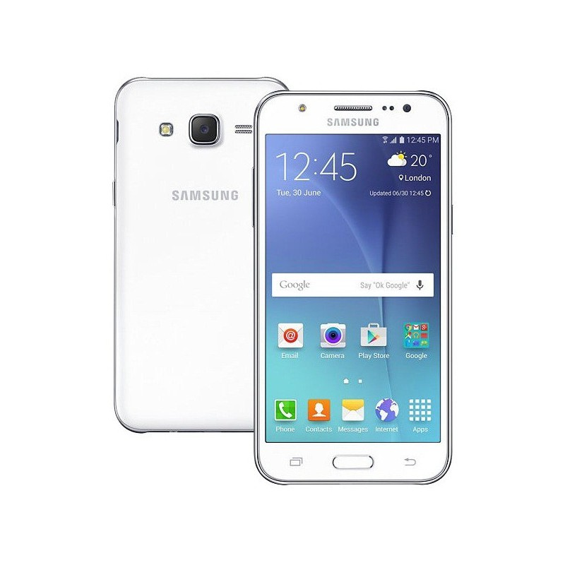 Téléphone Portable Samsung Galaxy J7 / 4G / Double SIM / Blanc + SIM Offerte + Gratuité 15dt