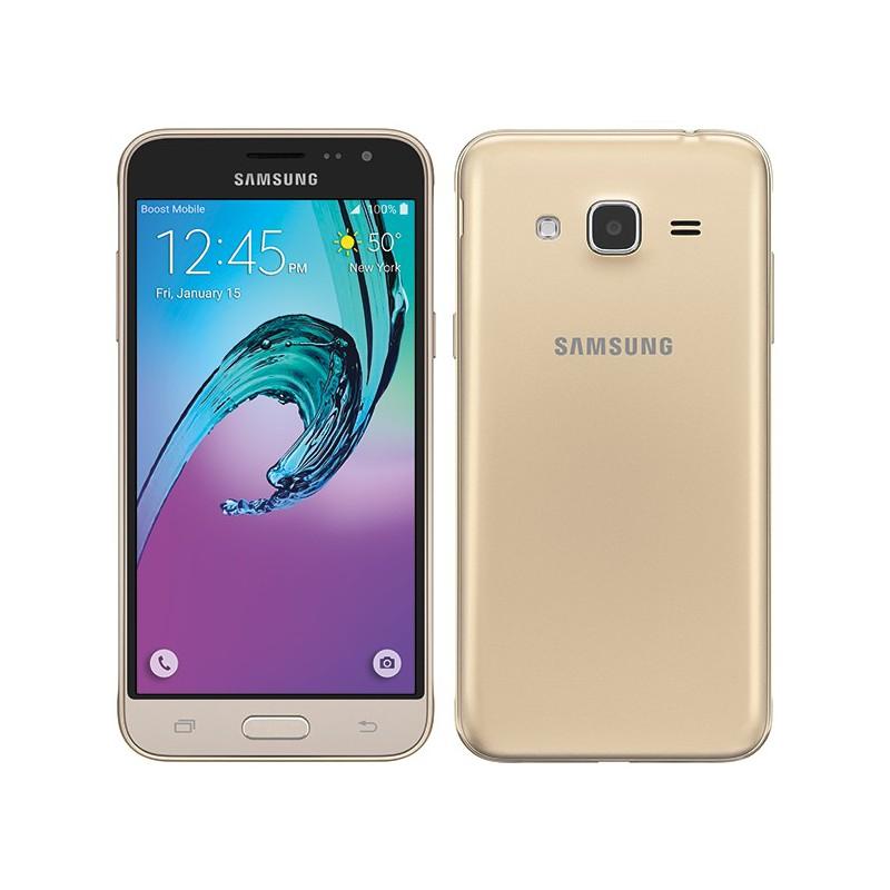 Téléphone Portable Samsung Galaxy J3 / 4G / Double SIM / Gold + SIM Offerte + Gratuité 30DT