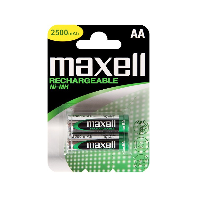 2x Piles Rechargeables Maxell AA NiMH HR6