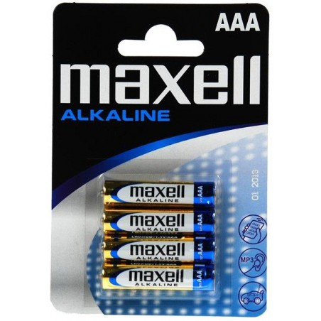 4x Piles Maxell Alkaline AAA LR03