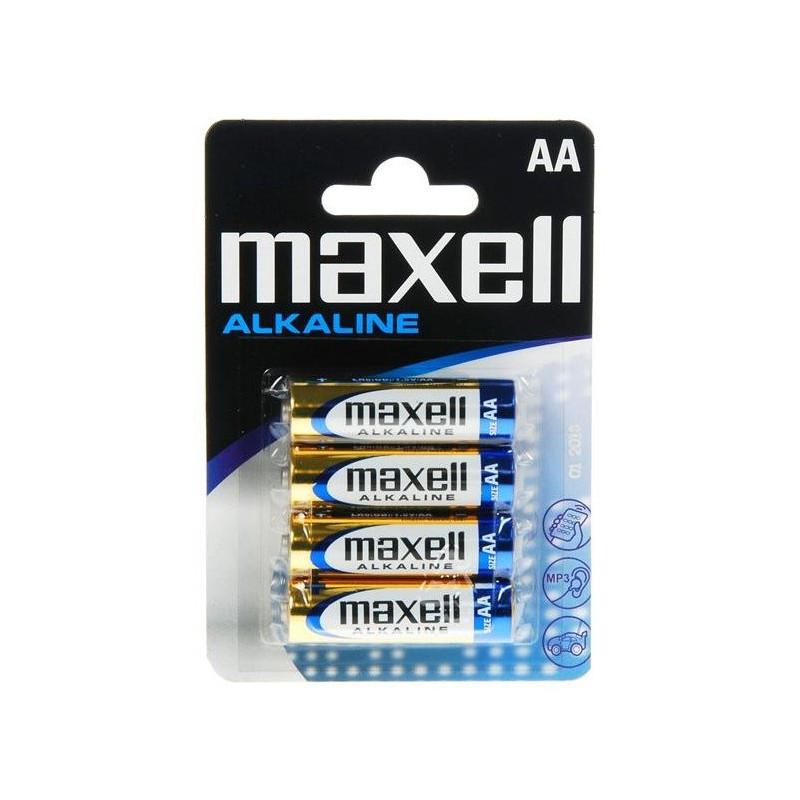 4x Piles Maxell Alcaline AA LR6