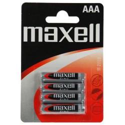 4x Piles Maxell Zinc AAA R03