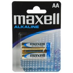 2x Piles Maxell Alcaline AA LR6