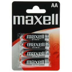 4x Piles Maxell Zinc AA R6