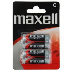 2x Piles Maxell Zinc C R14