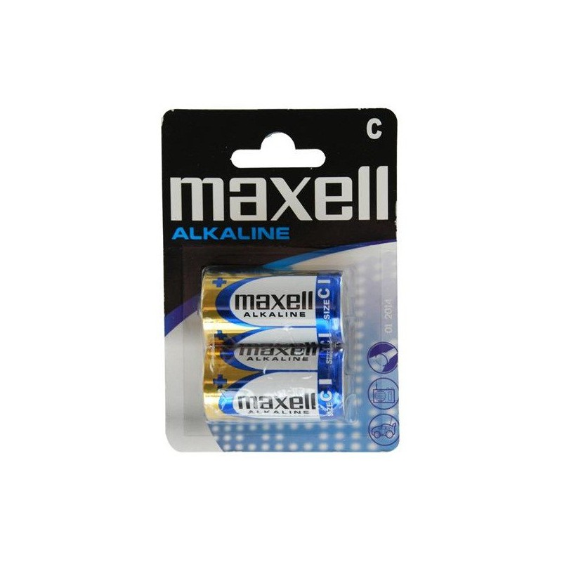 2x Piles Maxell Alcaline C LR14