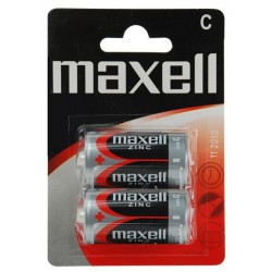 2x Piles Maxell Zinc C R20