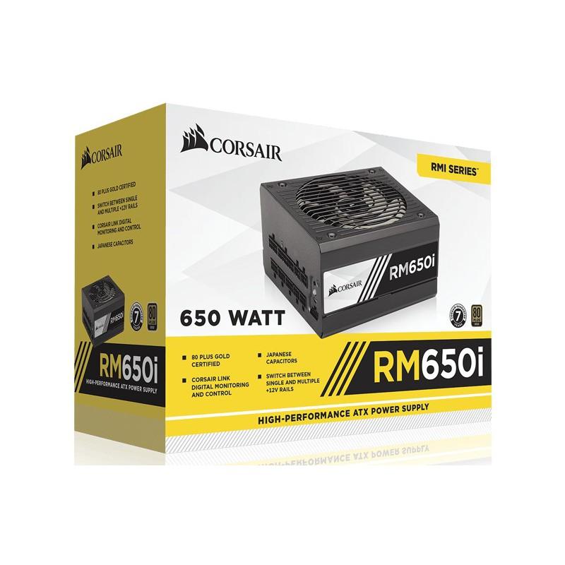 Boite d'alimentation Corsair RM650i / 80PLUS Gold / 650W / Modulaire