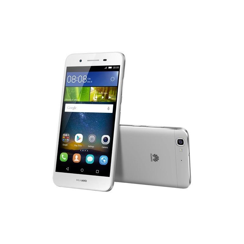 Téléphone Portable Huawei GR3 / 4G / Double SIM / Argent + Film de protection + Coque + SIM Offerte