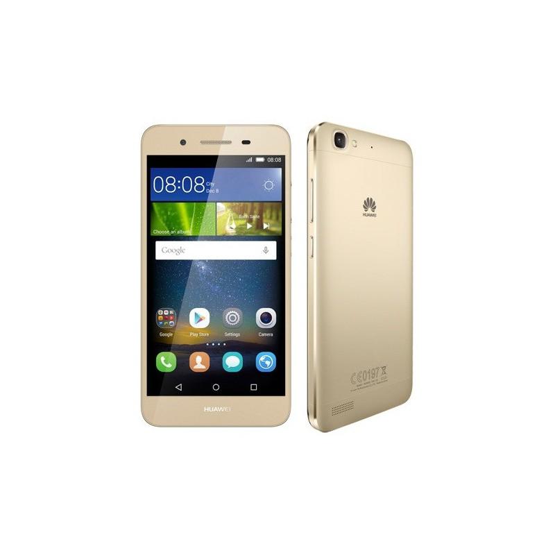 Téléphone Portable Huawei GR3 / 4G / Double SIM / Gold + Film de protection + Coque + SIM Offerte