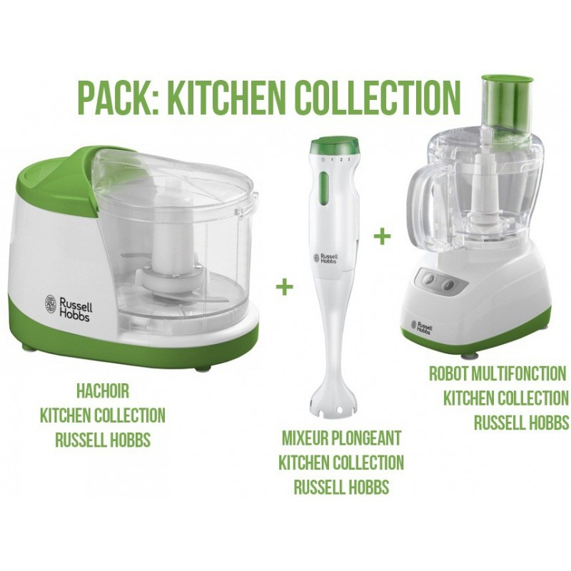Pack Kitchen Collection Russell Hobbs: Hachoir + Mixeur + Robot Multifonctions