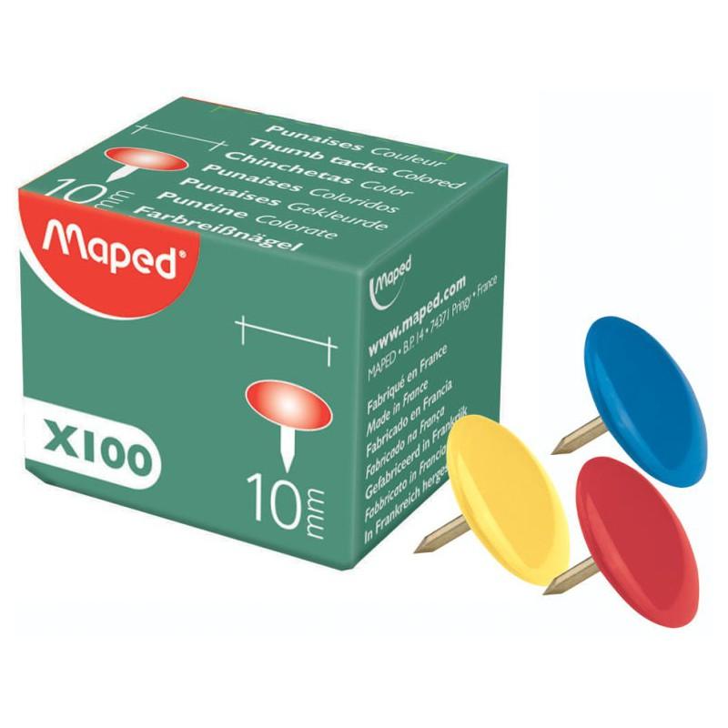 100x Punaises Maped Cuivre 10mm