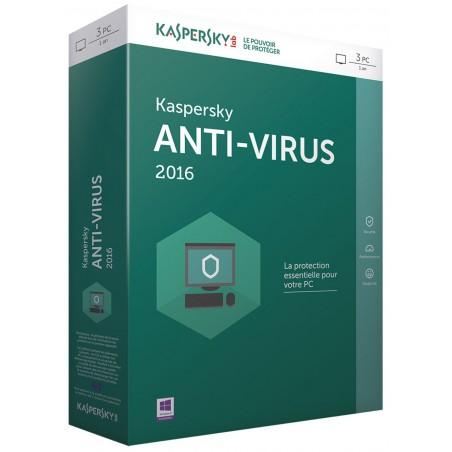 Kaspersky Anti-Virus 2016 - 1 an / 3 Pcs