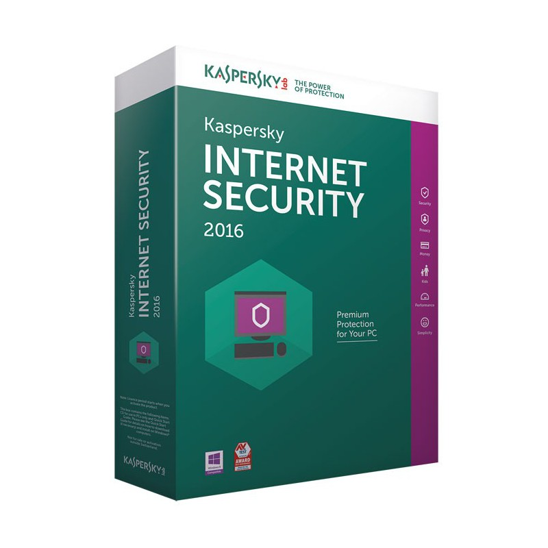 Kaspersky Internet Security 2016 - 1 an / 3 Pcs