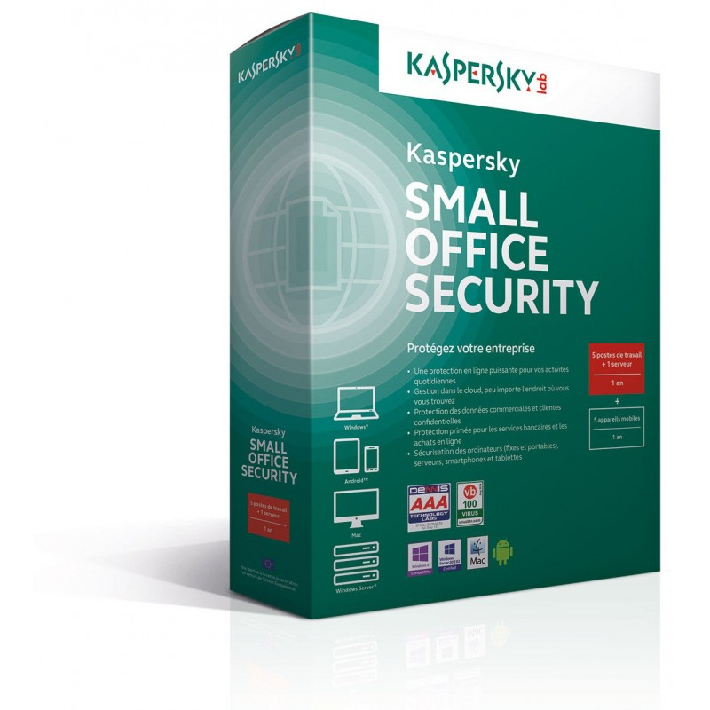 Kaspersky Small Office Security 4.0 - 1 an / 10 Pcs + 1 serveur
