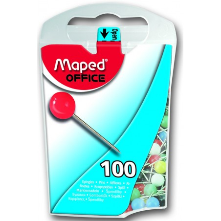 100x Epingles Memo Maped 5 mm
