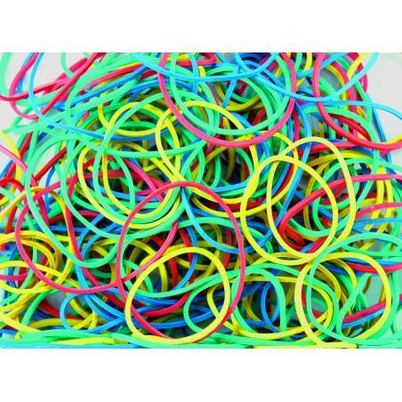 Bracelets Caoutchouc élastiques 100g / Assortis