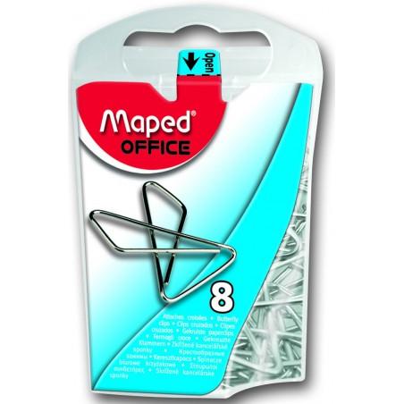 8x Attaches croisées Maped 30 x 40 mm