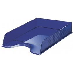 Bac à courrier Esselte Fusion Transparent Bleu foncé