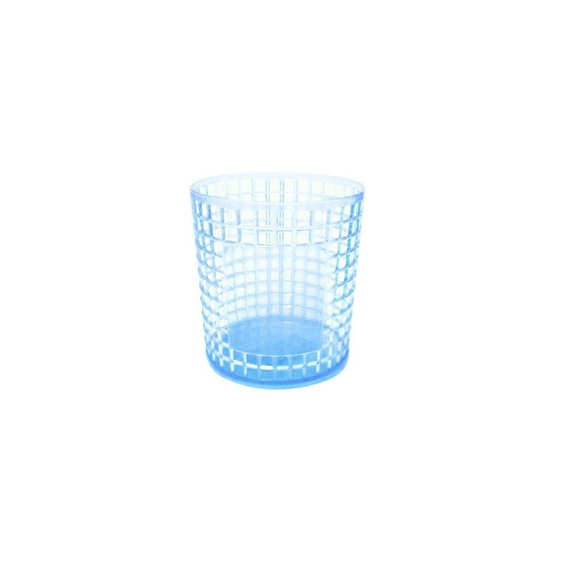 Porte Stylo Cylindre en Cristale / Bleu