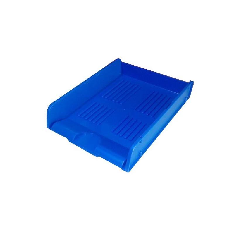 Corbeille à courrier HGE superposable A4 / Bleu