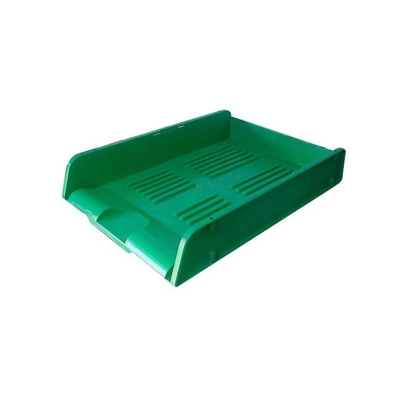 Corbeille à courrier HGE superposable A4 / Vert