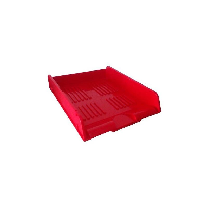 Corbeille à courrier HGE superposable A4 / Rouge