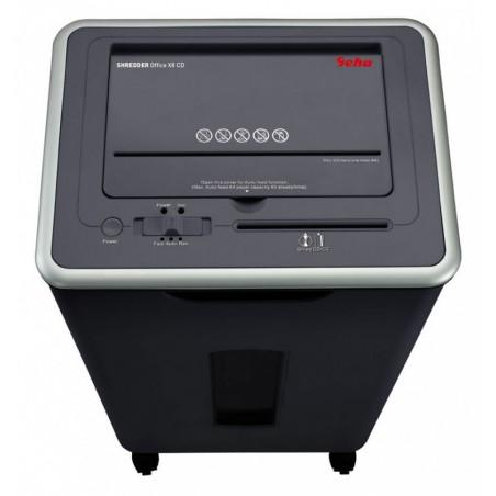 Destructeur coupe croisée Geha Office X8 CD / Noir