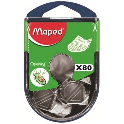 80x Coins-lettres aluminium Maped