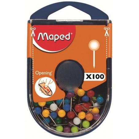100x Epingles de signalisation Maped 5 mm