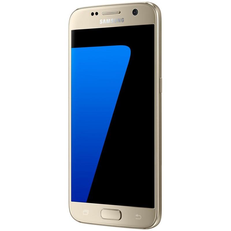 Téléphone Portable Samsung Galaxy S7 / Double SIM / Gold + SIM Offerte