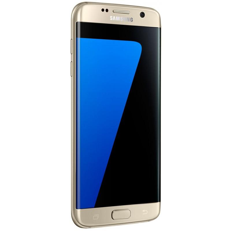 Téléphone Portable Samsung Galaxy S7 Edge / Double SIM / Gold + Gratuité 60Dt  + SIM Offerte