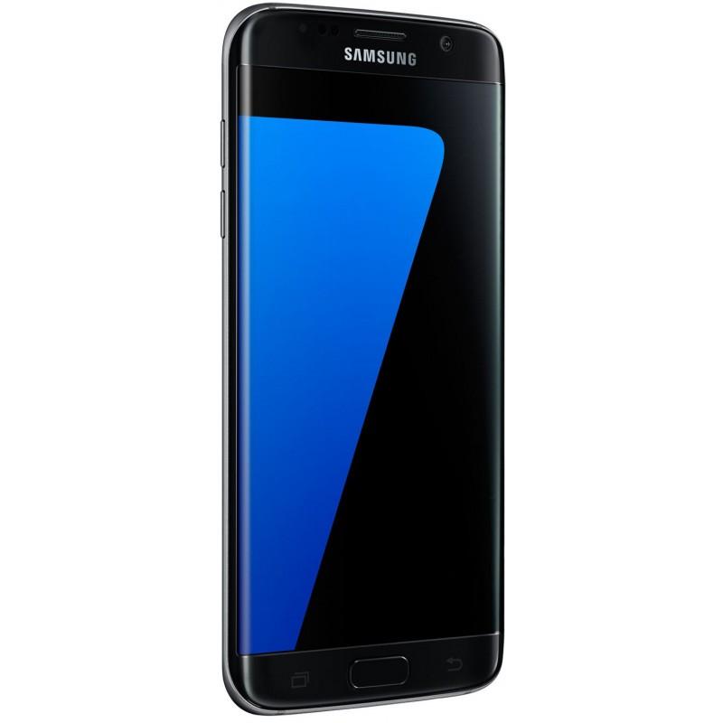 Téléphone Portable Samsung Galaxy S7 Edge / Double SIM / Noir + Gratuité 60Dt  + SIM Offerte