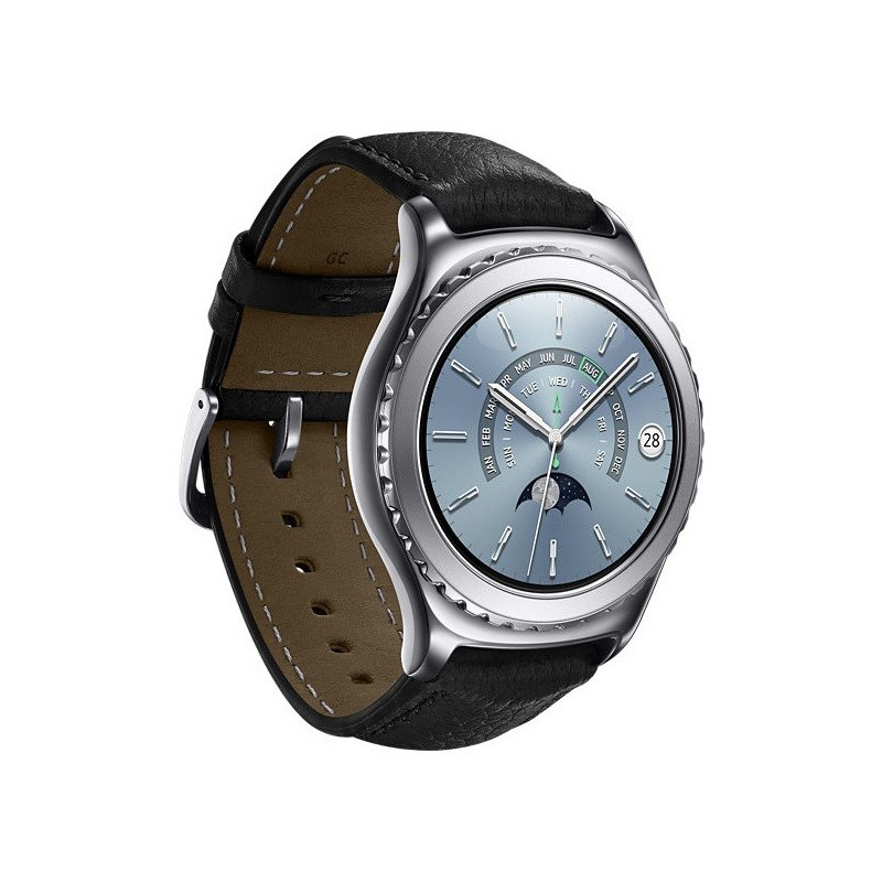 montre connect samsung gear s2 classic platine. Black Bedroom Furniture Sets. Home Design Ideas