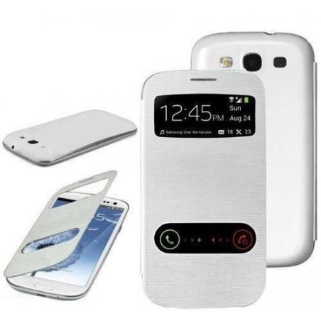 Flip Cover pour Samsung Galaxy S3 / Blanc