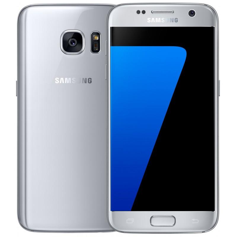 Téléphone Portable Samsung Galaxy S7 / Double SIM / Silver + SIM Offerte