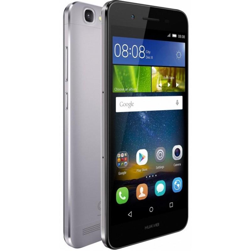 Téléphone Portable Huawei GR3 / 4G / Double SIM / Gris + Film de protection + Coque + SIM Offerte