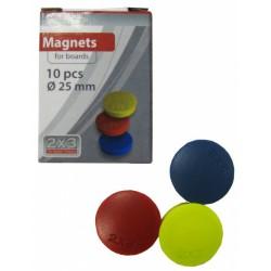 10x Boutons magnétiques 25 mm