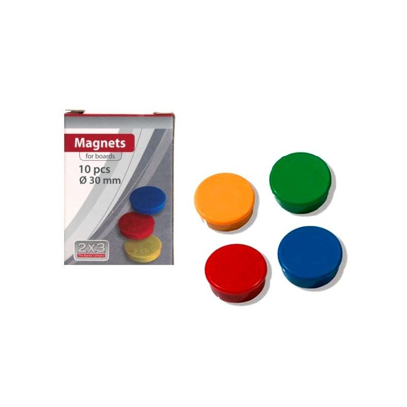10x Boutons magnétiques 30 mm