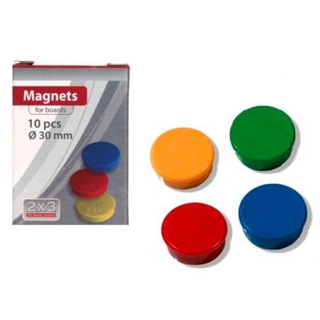 10x Boutons magnétiques 30 mm