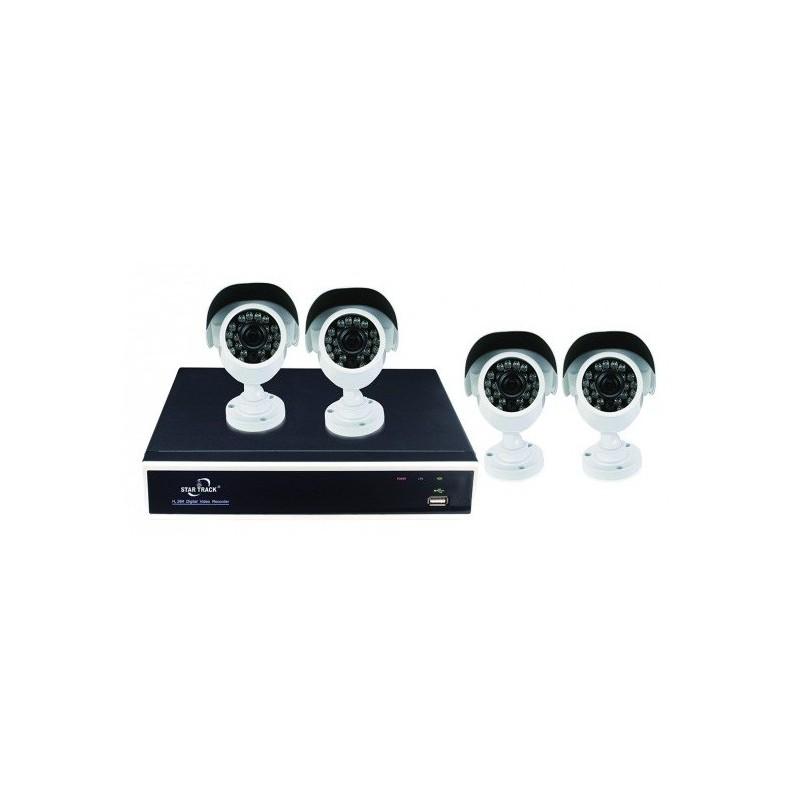 Kit de surveillance DIY AHD 4 canaux 4 Caméras