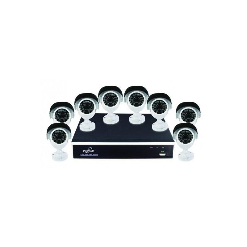 Kit de surveillance DIY AHD 8 canaux 8 Caméras